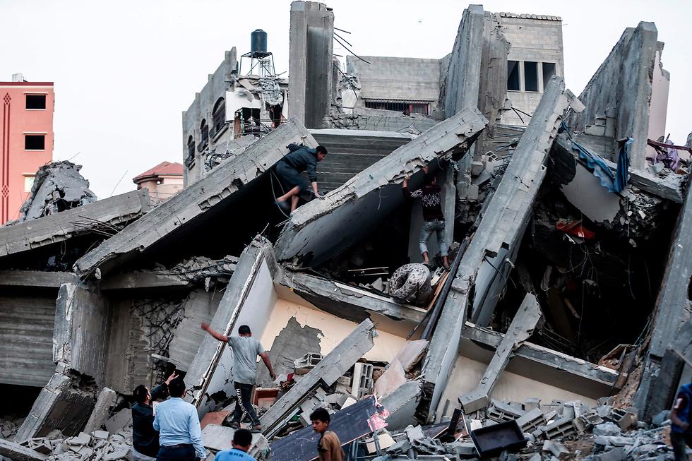Damage in Gaza from an IAF strike (Photo: AFP)