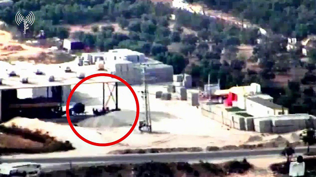 IDF strikes a terror target in Gaza  (Photo: IDF Spokesperson's Unit)