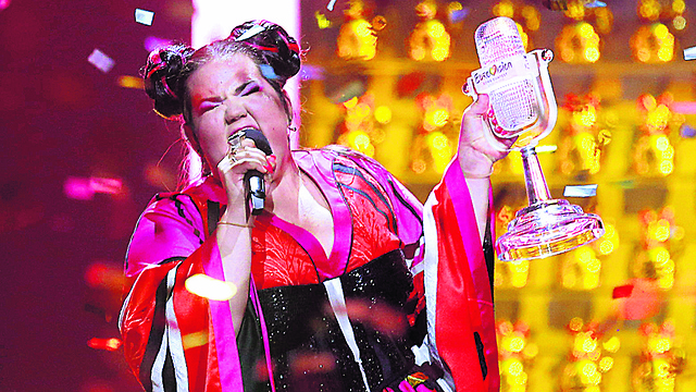 2018 Eurovision winner Netta Barzilai, whose victory brought the contest to Israel this year (Photo: AP)