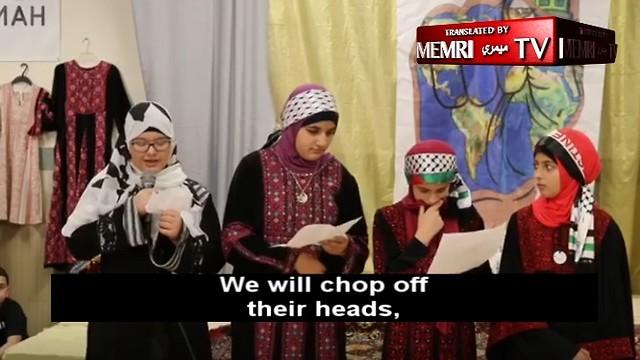 Children recite hateful lyrics