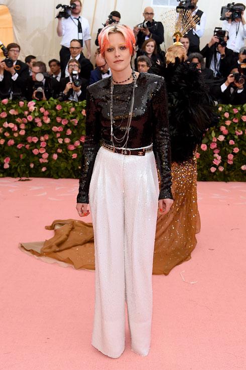 קריסטן סטיוארט לובשת שאנל (צילום:  Jamie McCarthy/GettyimagesIL)