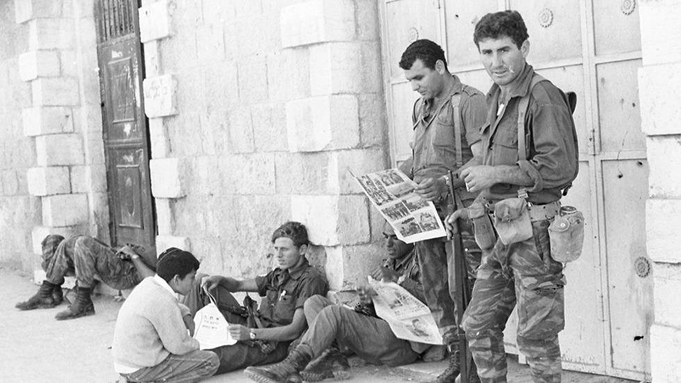 Israeli troops during the Six Day War (Photo: Courtesy of Israel National Library)