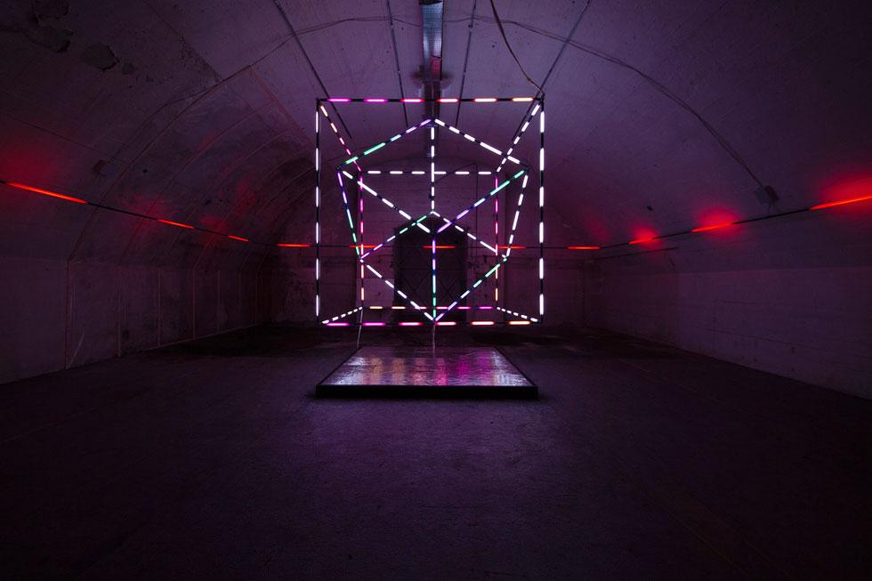 מתוך המיצב Aria של Come To light, באחד מאולמות ה-Ventura Centrale, שהכפיל השנה את גודלו