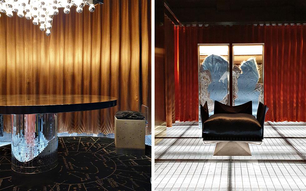 Dimore, סטודיו מילנזי לעיצוב פנים, הציג את קולקציית הרהיטים הראשונה שלו בבית הקולנוע לשעבר Arti (צילום: סיגל נמיר)