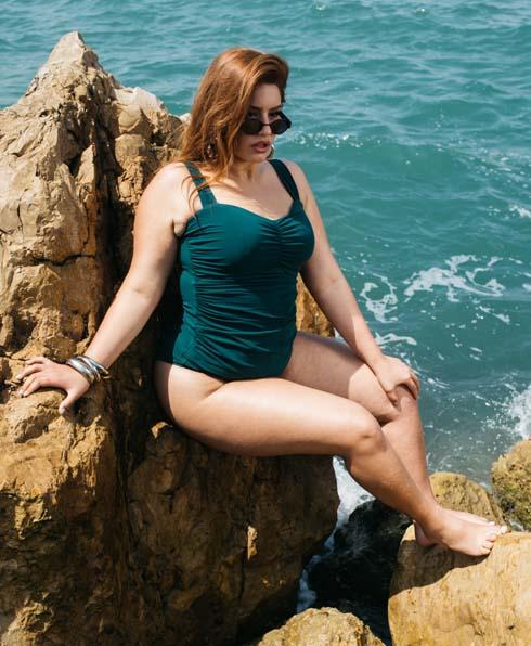 סינדי שאדי בבגד ים של Turkiz by Gottex (צילום: עדי סגל)