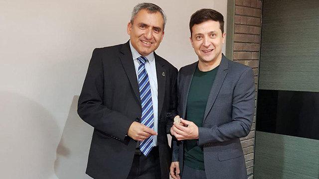 Minister Ze'ev Elkin and President Zelenskiy