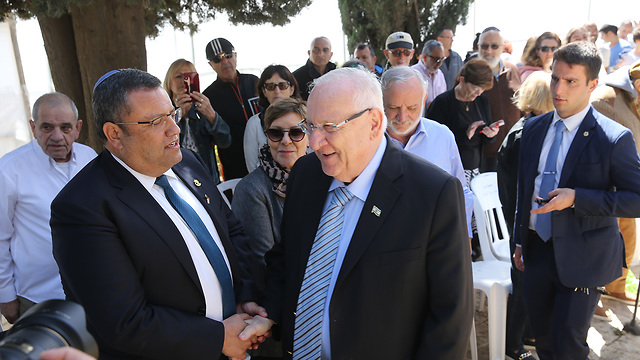 Rivlin and Jerusalem Mayor Moshe Lion