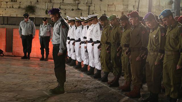 Центральная церемония Дня памяти у Стены плача. Фото: Амит Шааби