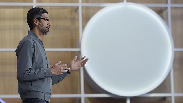 סונדר פיצ'אי בכנס המפתחים של גוגל (צילום: AP)