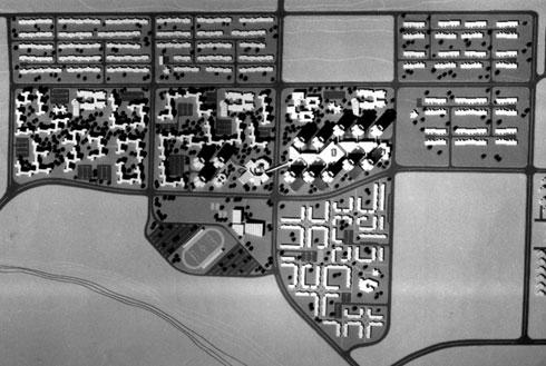 תוכנית לעיר בנדר עבאס באיראן (אדריכל: דן איתן, צילומי מודל: פאול גרוס)