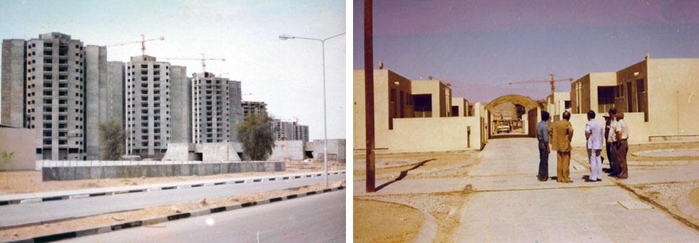 שנות השגשוג באיראן: פרויקטים גדולים בעיר בנדר עבאס, שדן איתן תכנן. הוא חזה את המהפכה - ויצא משם לפני שהתרחשה (אדריכל: דן איתן, צילומי מודל: פאול גרוס)