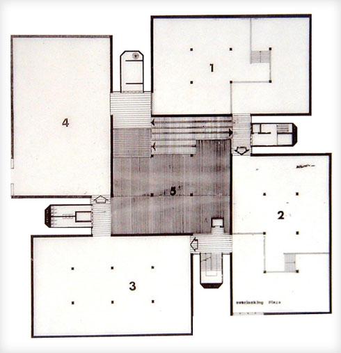 4 גלריות בספירלה. מוזיאון ת''א (אדריכל: דן איתן יצחק ישר (זל))