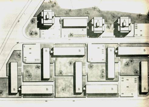 תוכניות שיכון סן-סימון בירושלים (אדריכלים: דן איתן יצחק ישר (זל) אדריכלים)