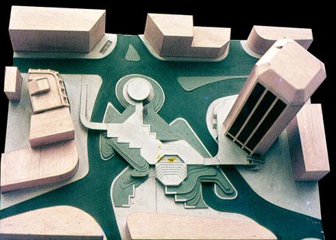מודל מגדל העיר במרכז ירושלים (אדריכל: דן איתן)