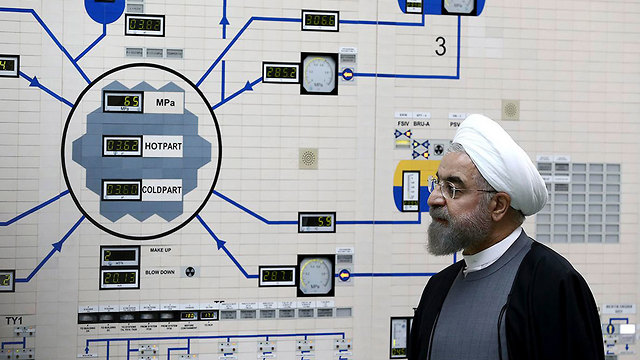Iranian President Rouhani at Bushehr nuclear site