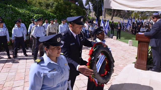 Acting Israel Police Commissioner Moti Cohen at the Memorial Day ceremony 2019 (Photo: Israel Police)