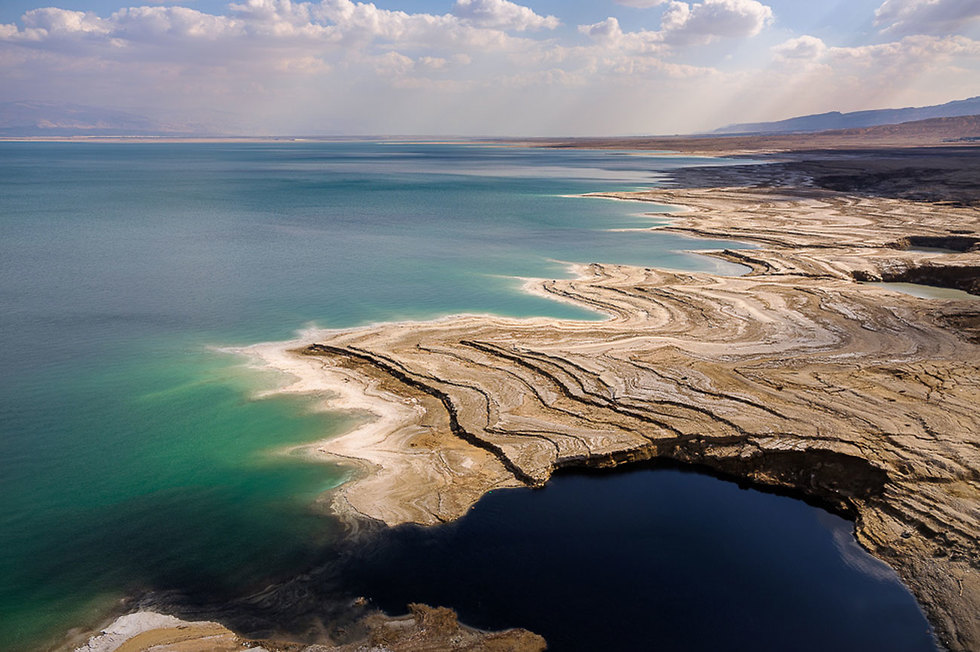 חלקו הצפוני של ים המלח  (צילום: ישראל ברדוגו)