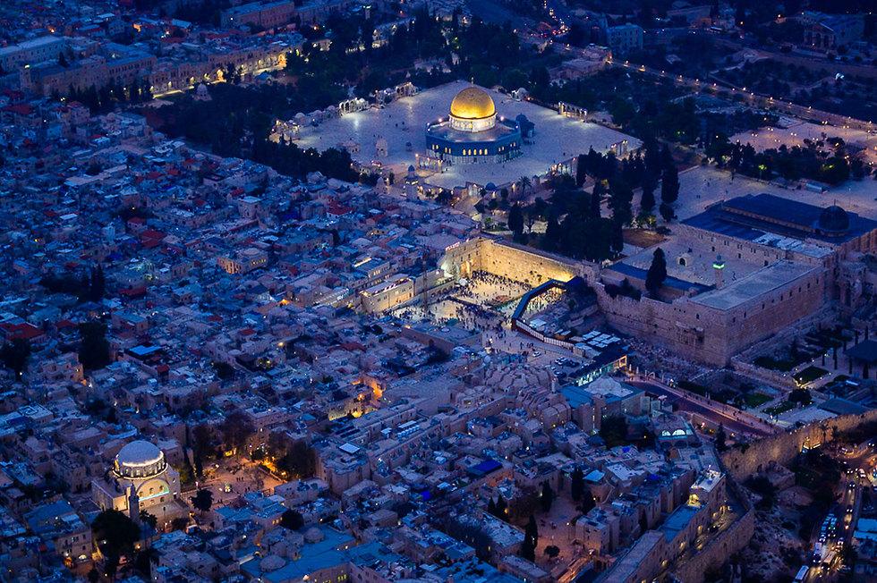 The Old City of Jerusalem at night