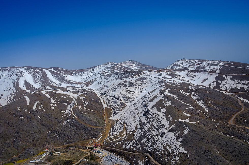 Mount Hermon's snowy peak