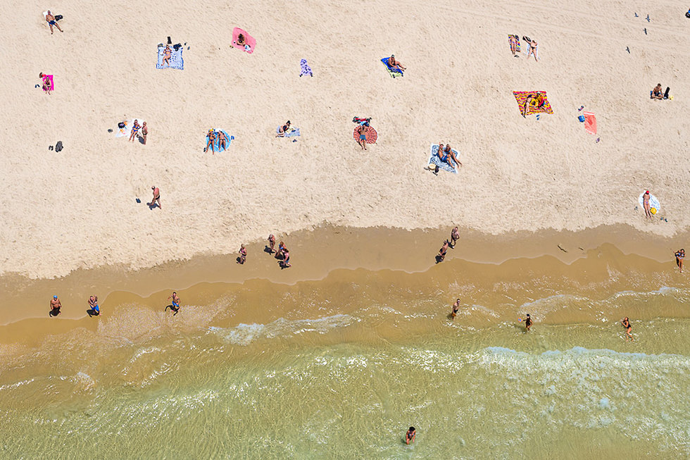 Sunbathing in Tel Aviv