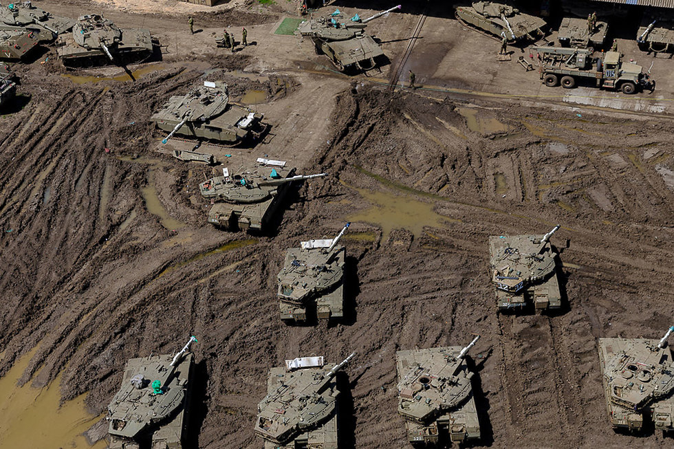 An armored corps base in Israel's north
