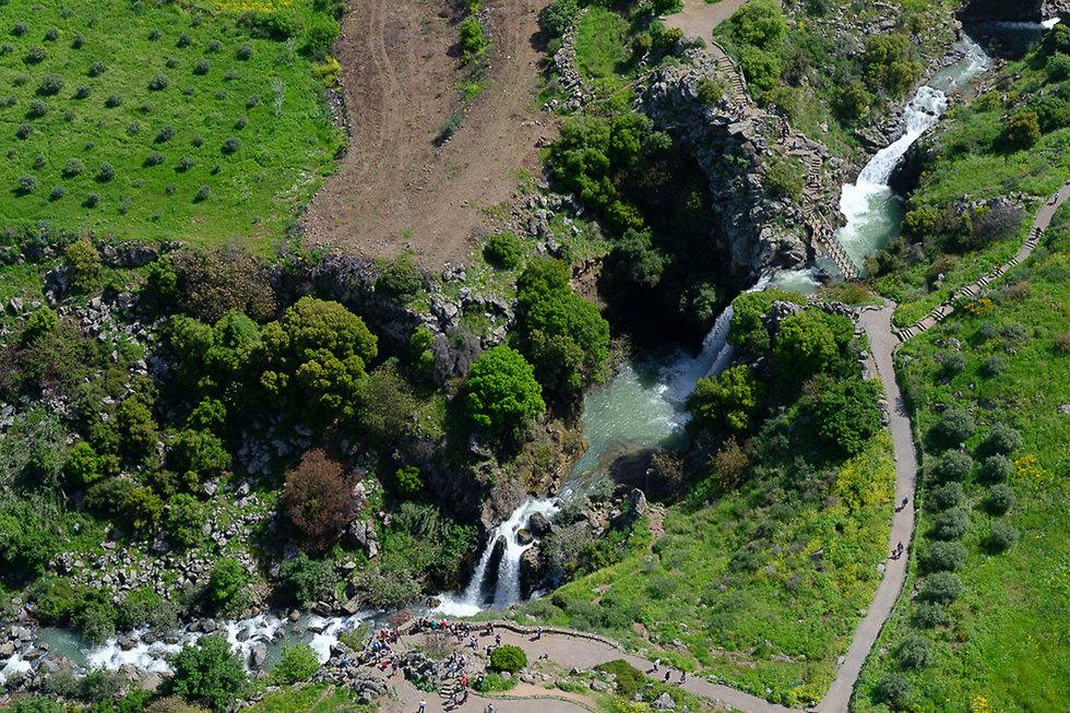The Saar Falls  in the Golan Heights