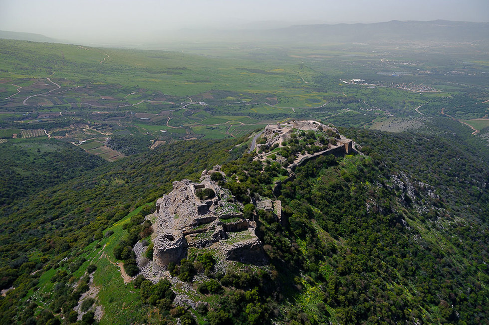 The Nimrod Castle in the Golan Heights