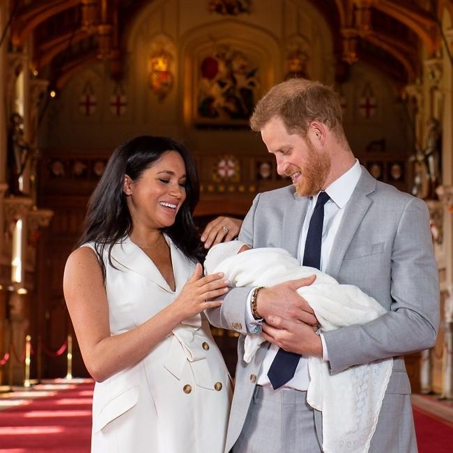 אב השנה. הנסיך הארי, מייגן מרקל ובייבי ארצ'י (צילום: Gettyimages)