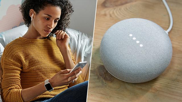 רמקול חכם של גוגל והאוזניות האלחוטיות של אפל (צילום: Shutterstock, אפל)