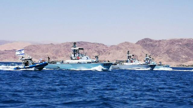 Navy boats in Red Sea