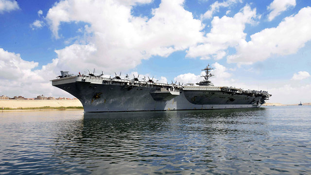 USS Abraham Lincoln on its way to the Gulf (Photo: EPA)