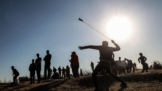 The Friday protests on the Gaza Strip's border (Photo: AFP)