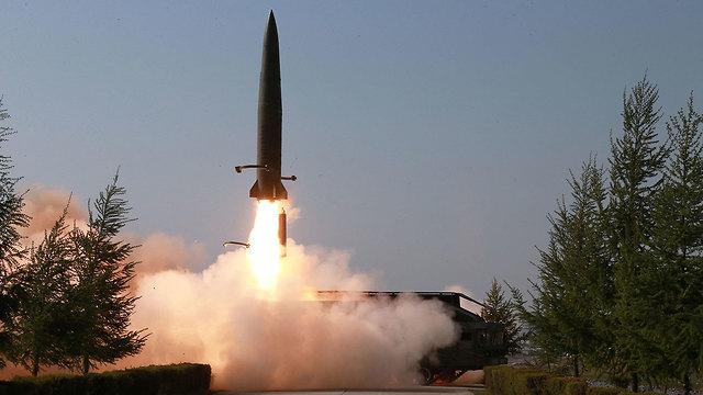 תרגיל צבאי טיל צפון קוריאה (צילום: רויטרס)