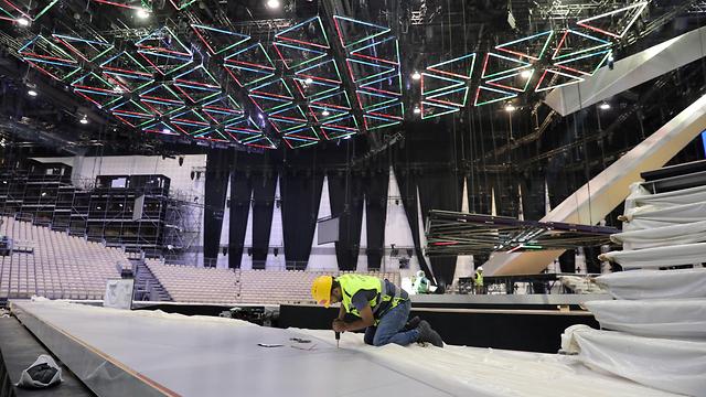 פארק צ'ארלס קלור בהכנות לקראת האירוויזיון בתל אביב (צילום: EPA)