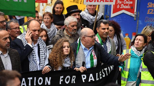 Ахед Тамими на марше в Лондоне. Фото: ЕРА