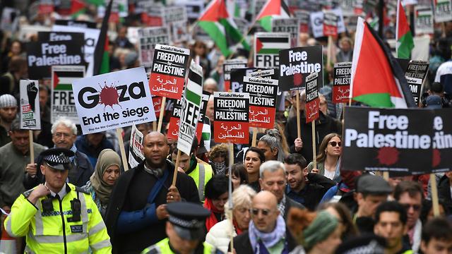 Ахед Тамими на марше в Лондоне. Фото: AFP