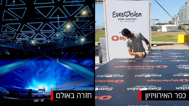 הכנה הכנות לקראת אירוויזיון 2019 גני התערוכה תל אביב ישראל (צילום: EPA)