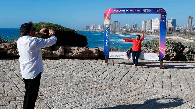 הכנה הכנות לקראת אירוויזיון 2019 גני התערוכה תל אביב ישראל (צילום: AFP)