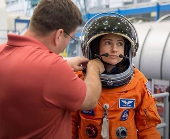 Jessica Meir trains for space mission