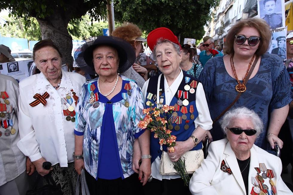 וטרנים בבת ים בציון יום סיום המאבק בנאצים  (צילום: הקרן לידידות)