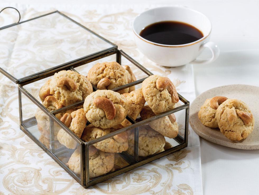 עוגיות חמאה וקשיו (צילום: בועז לביא, סגנון: נעה קנריק)