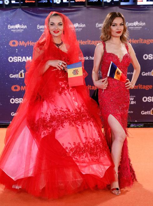 אדום עולה. אנדה אודובסקו ממולדובה (צילום: AP)