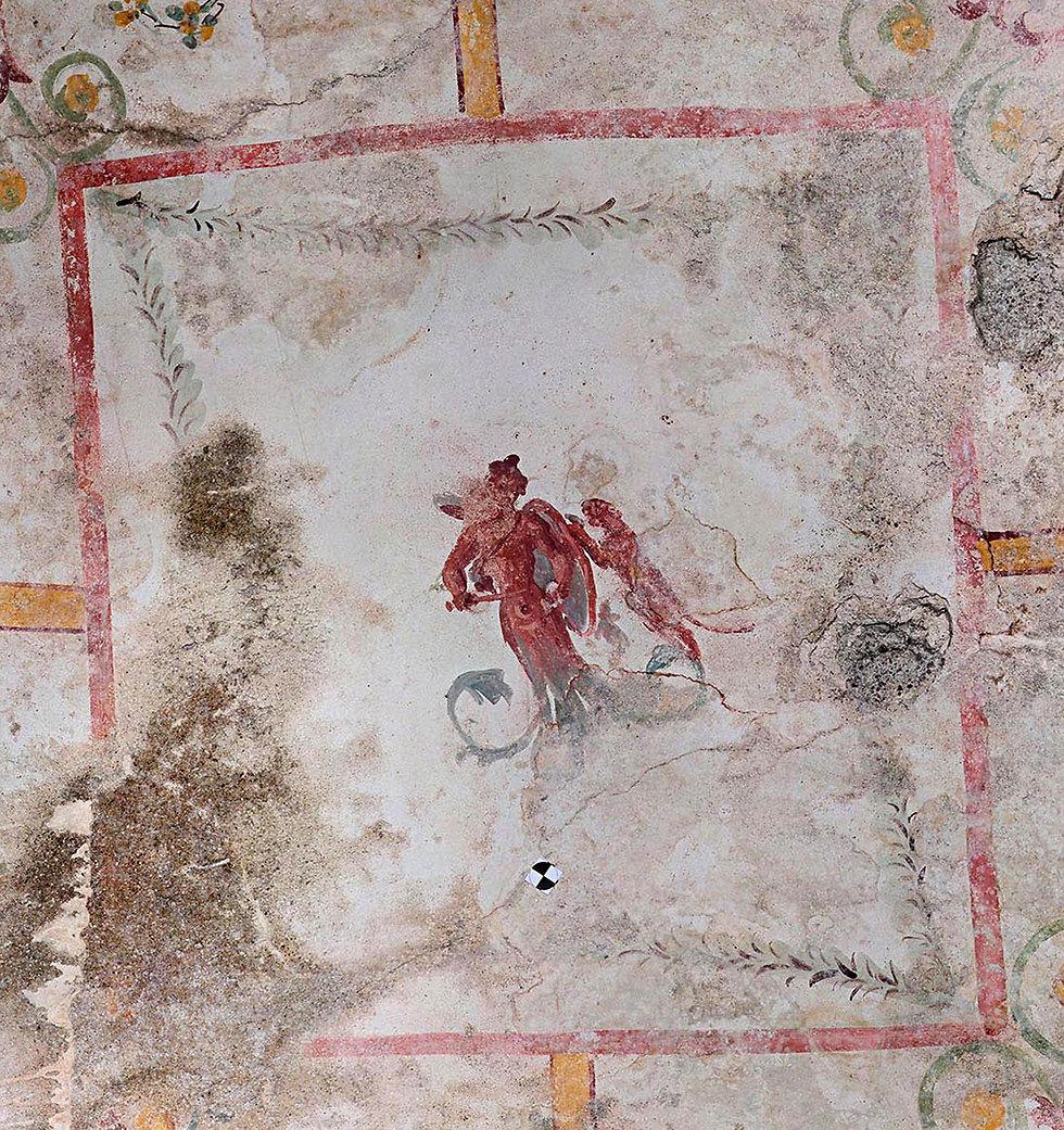 תא סודי בארמון הקיסר נרו רומא איטליה (צילום: EPA)