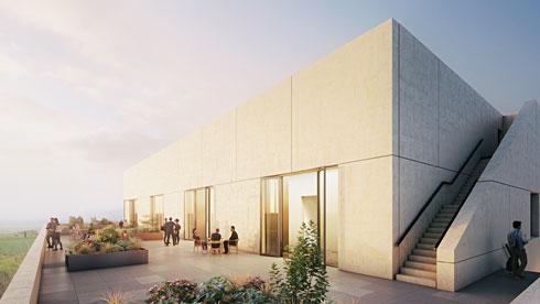 מבנה מעבדות במכללת תל חי, שהמשרד זכה בתחרות לתכנונו (הדמיה: StudioPEZ, זרחי אדריכלים)