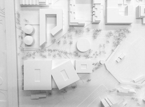 הקמפוס בברן מחולק לשלושה גושים (הדמיה: Wulf Architekten, StudioPEZ)