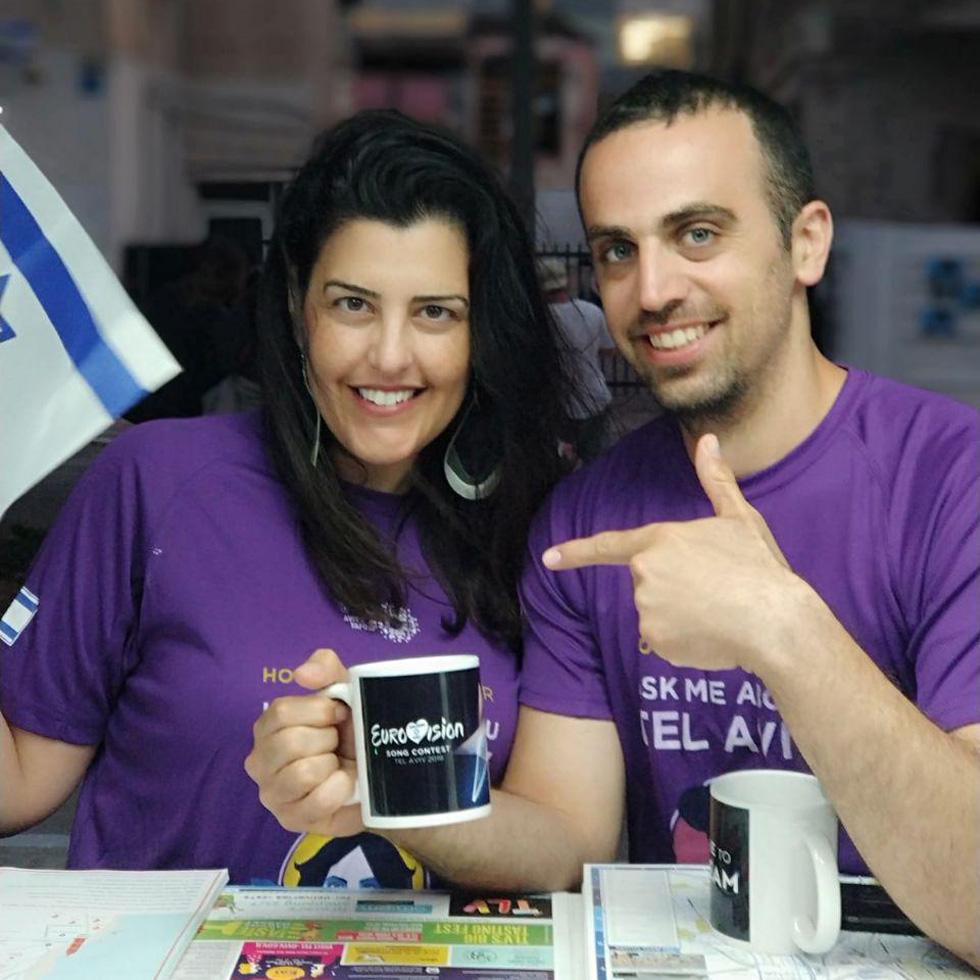 Шуламит Друкман и Лиор Кляйнберг, добровольцы на Евровидении. Фото: Шуламит Друкман