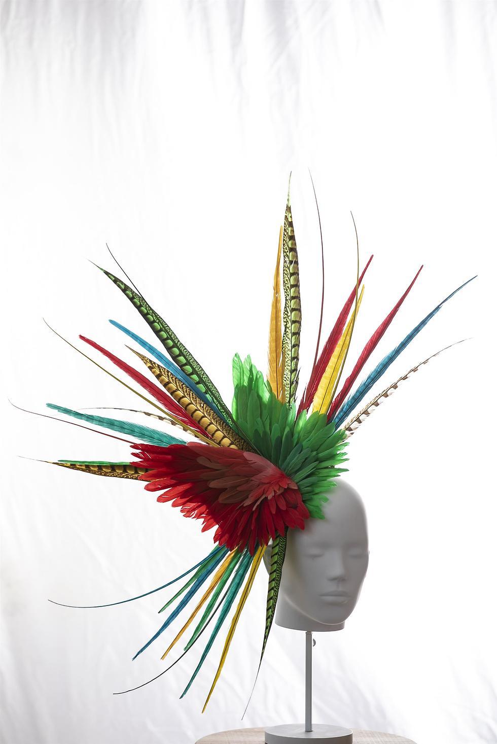תערוכת כובעים בהשראת האירוויזיון (צילום: לנס הפקות)