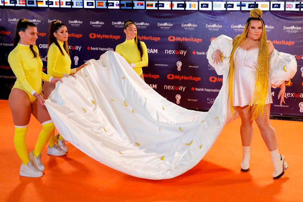 Нета Барзилай - не стесняется коротких платьев. Фото: AFP