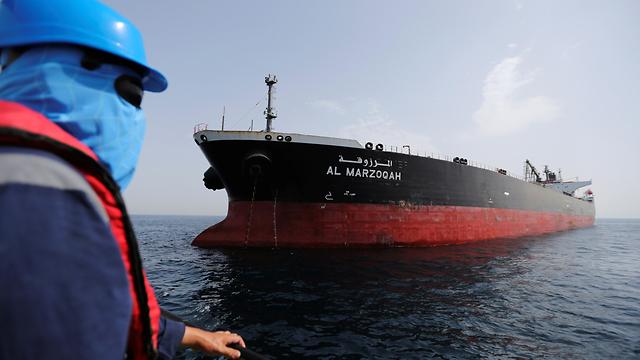 תקיפת אוניות ו מכליות ב איחוד האמירויות מכלית הנפט הסעודית אל מרזוקה (צילום: רויטרס)