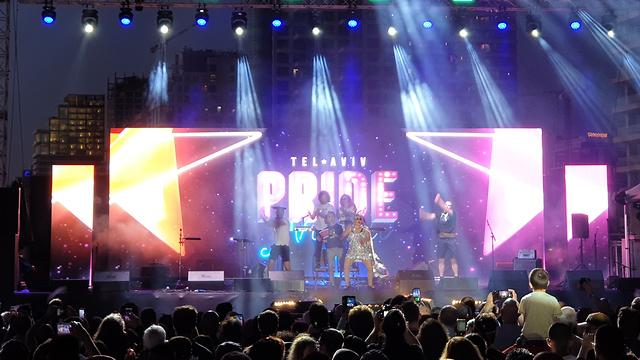 Pride night at the Eurovision Village in Tel Aviv (Photo: Shmulik Davidpur)